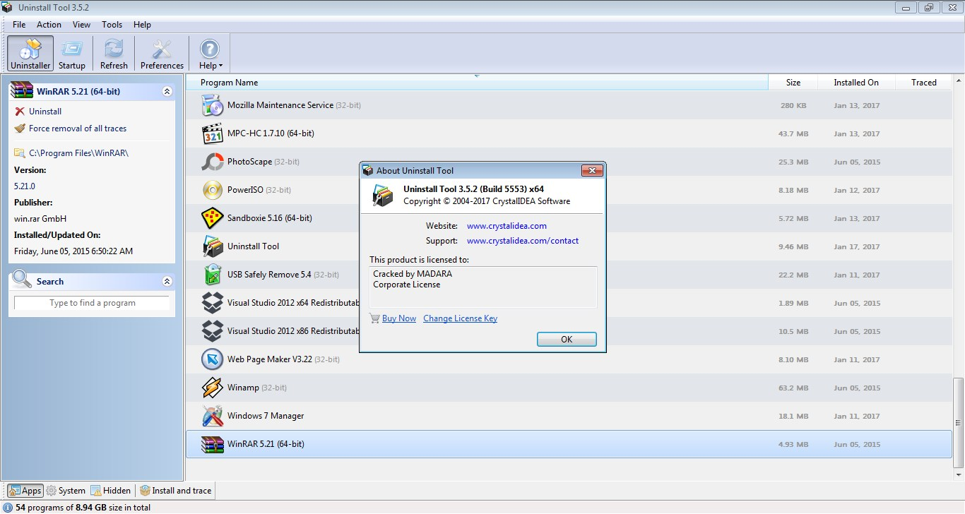 Uninstall Tool 3.5.8 License Key Full Version Free